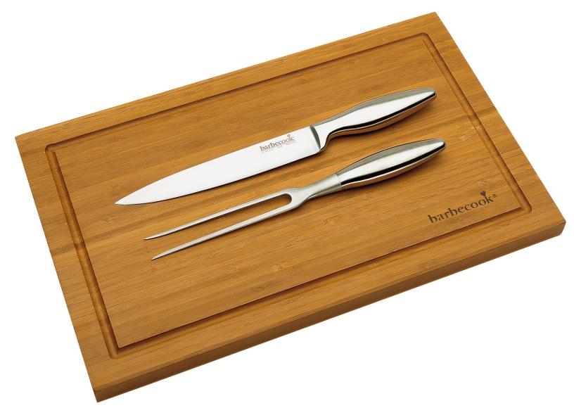 Set tenedor cuchillo tabla bamb la mejor tienda barbacoas for Set cuchillos villeroy boch tabla