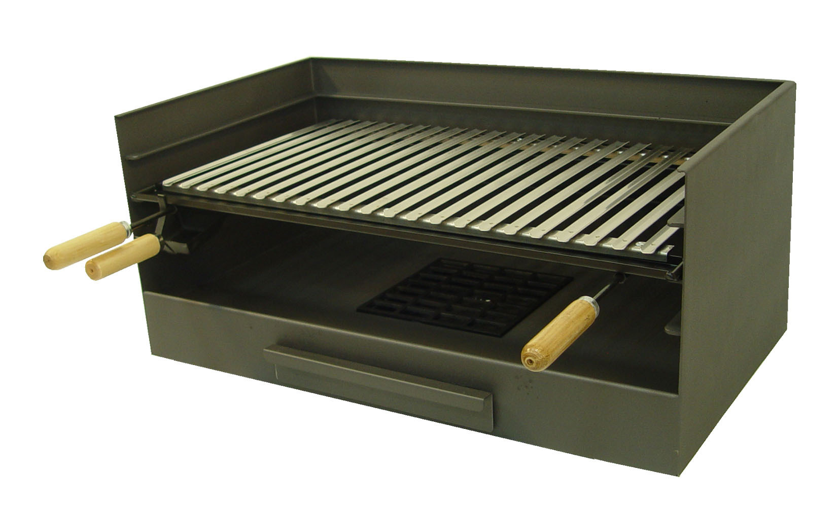 Cajon barbacoa con parrilla inox grande the barbecue store for Barbacoas argentinas precios