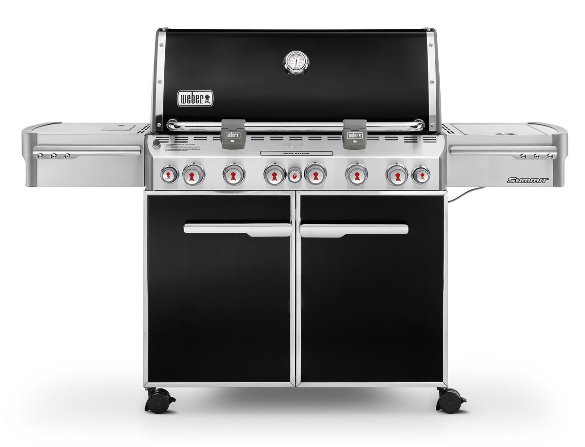 weber summit e 670 gas bbq black the barbecue store. Black Bedroom Furniture Sets. Home Design Ideas