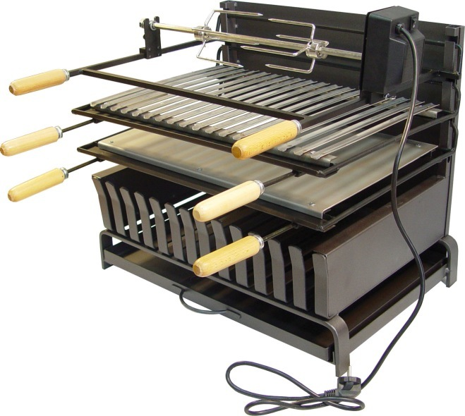 Bbq Drawer Rubiales Small And Rotisserie Kit The