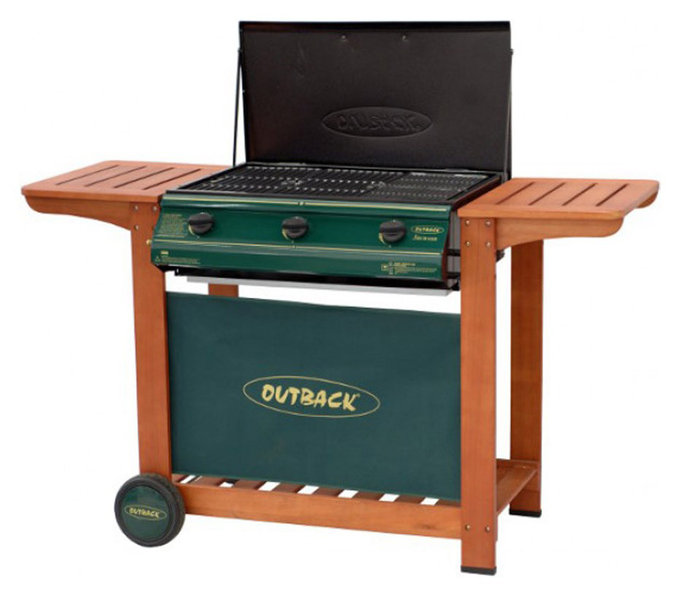 Outback 3 Burner Gas Bbq With Flat Lid The Barbecue Store