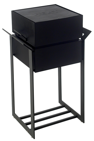 Heat Cube Design Black Charcoal Barbecue
