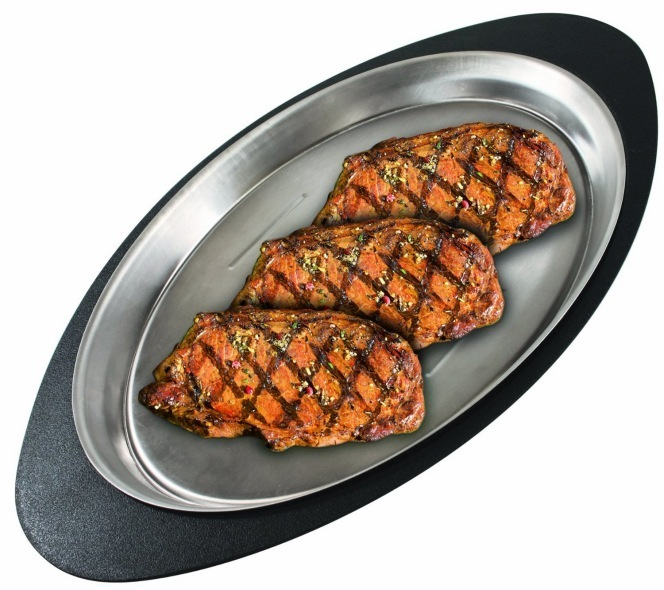 Stainless Steel Oval Steak Serving Platter The Barbecue