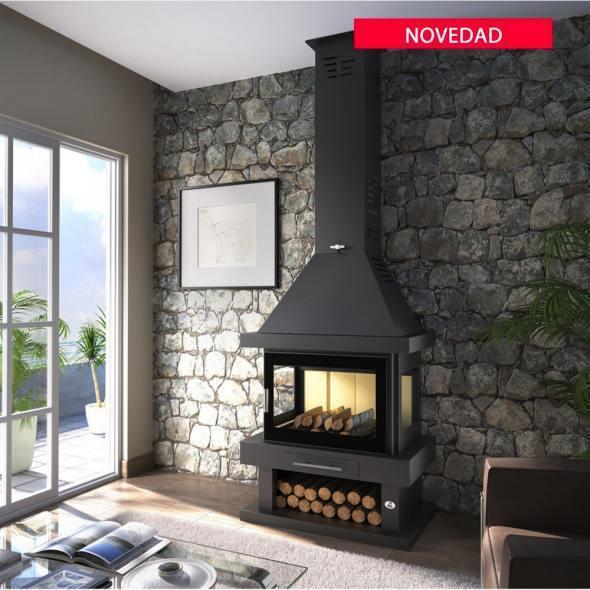 Chimenea de le a modelo c 203 la mejor tienda de chimeneas for Precios chimeneas lena