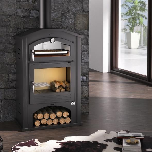 Estufa de le a con horno modelo m 106 la mejor tienda de for Modelos estufas a lena