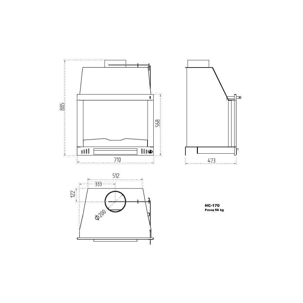 insertable de le a modelo hc 170 the barbecue store espa a. Black Bedroom Furniture Sets. Home Design Ideas