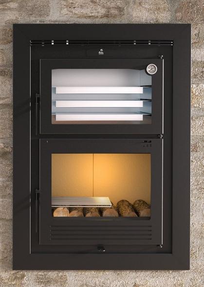 Horno insertable de le a modelo hli 100 the barbecue store - Modelos de hornos de lena ...