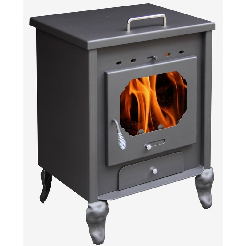 Square Wood Burning Stove With Oven The Barbecue Store Spain