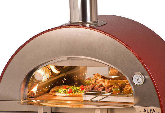 Horno de le a pizza brace rojo the barbecue store espa a - Como hacer horno de lena ...