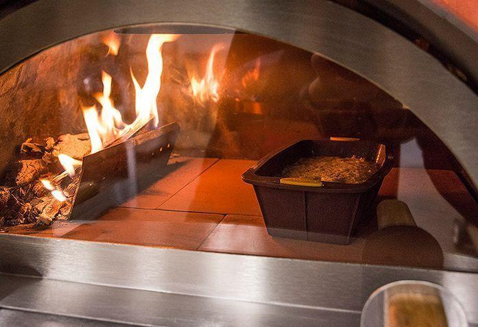 Horno de le a para interior mod gusto the barbecue store - Cocinas con horno de lena ...