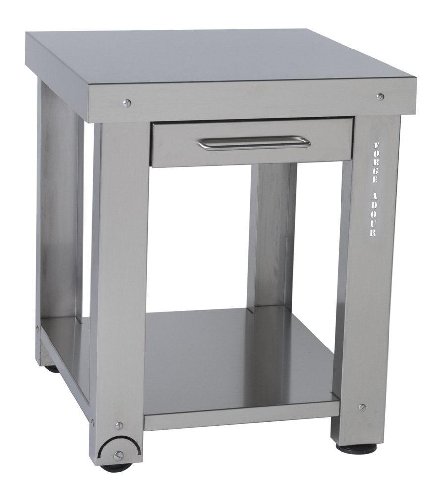 stainless steel side table with one shelf the barbecue store. Black Bedroom Furniture Sets. Home Design Ideas