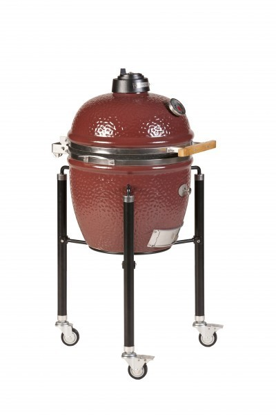 kamado monolith grill junior in red with cart the bbq store. Black Bedroom Furniture Sets. Home Design Ideas