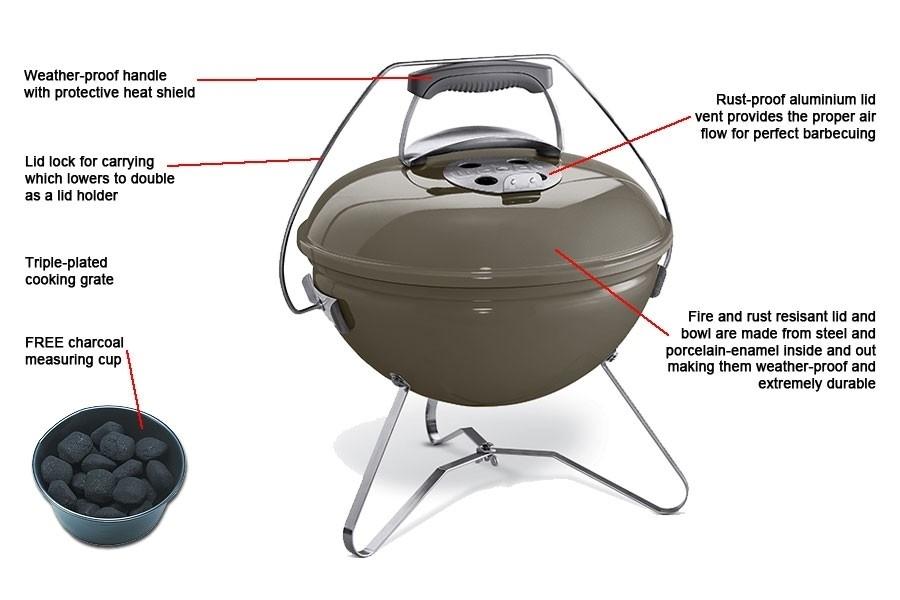 smokey joe premium 37 cm smoke grey the barbecue store spain. Black Bedroom Furniture Sets. Home Design Ideas