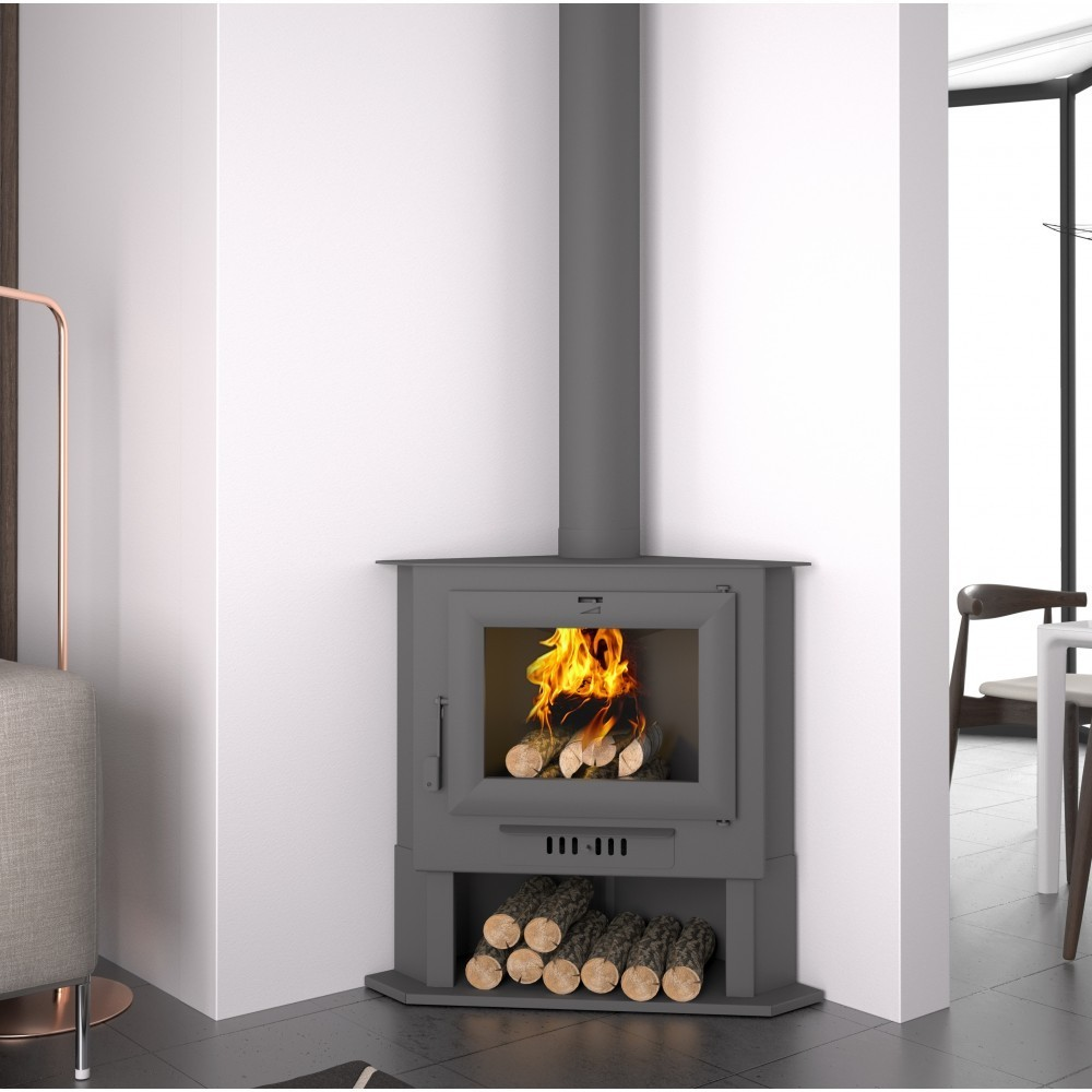 Ch 5 Corner Wood Burning Stove The Barbecue Store Spain