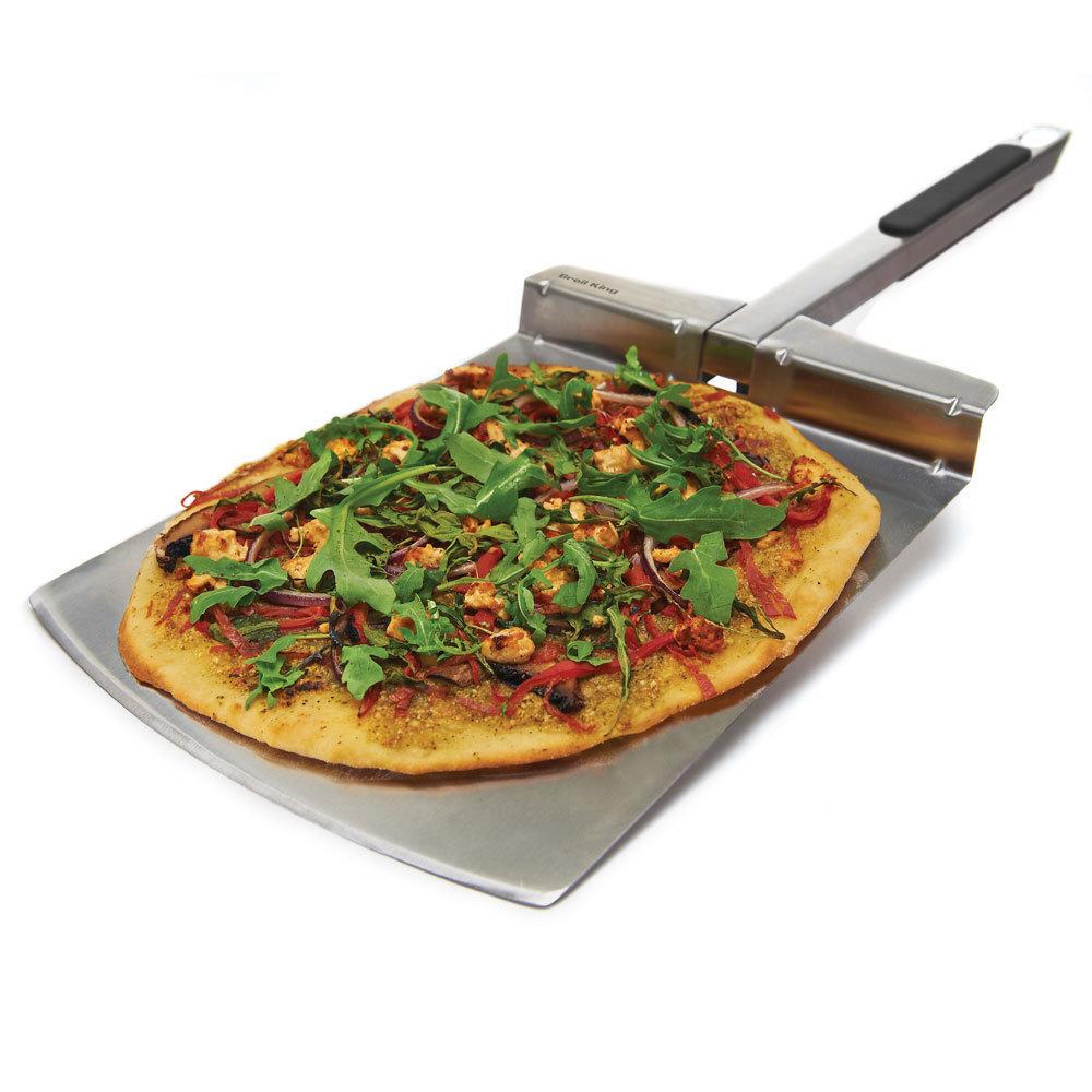 Pala para pizza inox plegable la mejor tienda de barbacoas for Pala horno pizza