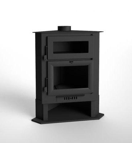 Estufa de le a rinconera con horno modelo ch 5 h mejor for Modelos estufas a lena