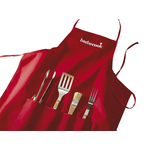 Apron with 4 pieces barbecue set