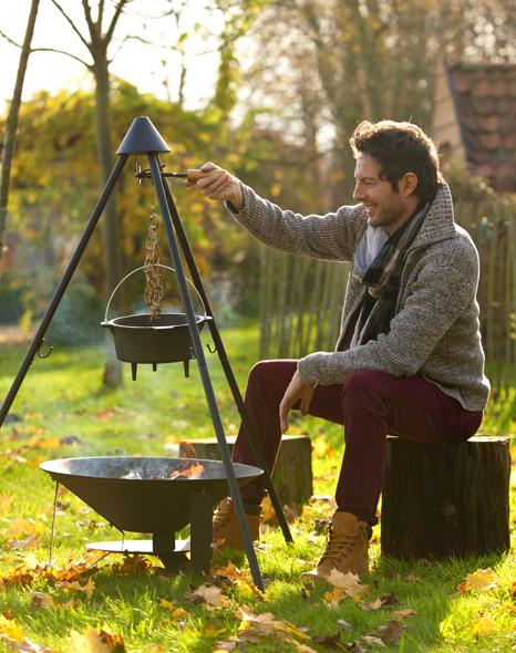 Olla 3 l hierro fundido para cocinar en barbacoa for Hierro fundido