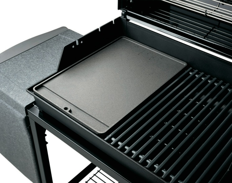Cast iron griddle weber spirit 3 burner bbq the barbecue for Housse barbecue weber spirit