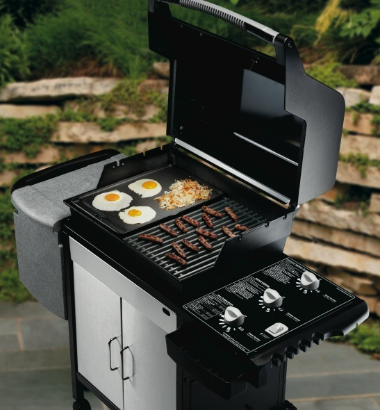 cast iron griddle weber spirit 3 burner bbq the barbecue store. Black Bedroom Furniture Sets. Home Design Ideas