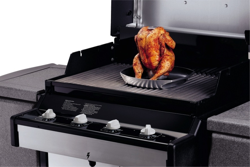 Weber style poultry roaster the barbecue store spain - Poulet barbecue weber ...