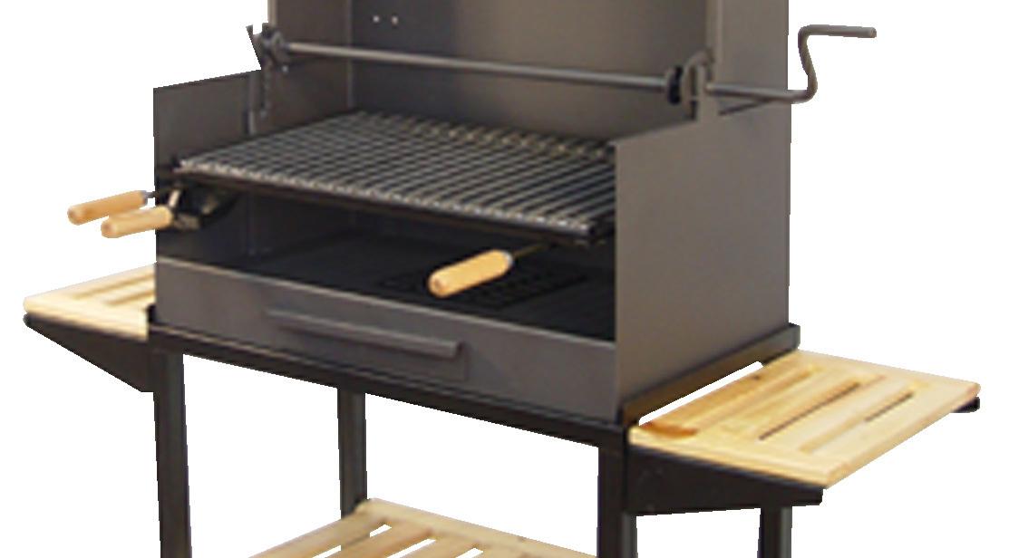Barbacoa de carb n con chimenea peque a the barbecue store - Carbon para barbacoa ...