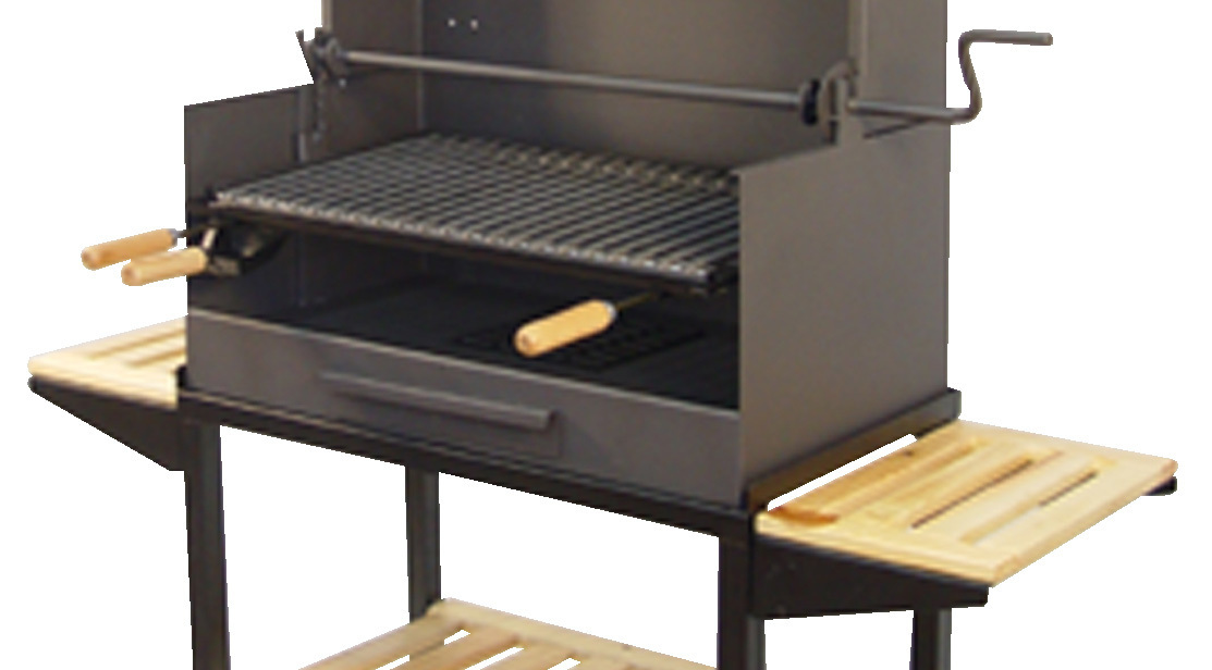 Barbacoa de carb n con chimenea grande the barbecue store - Barbacoas de carbon portatiles ...
