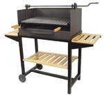 Barbecue with Steel Grill Elevator Big