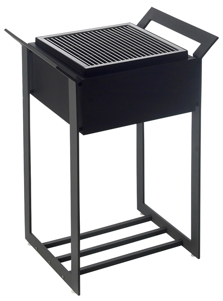Heat Cube Design Black Charcoal Barbecue - Modern design BBQ