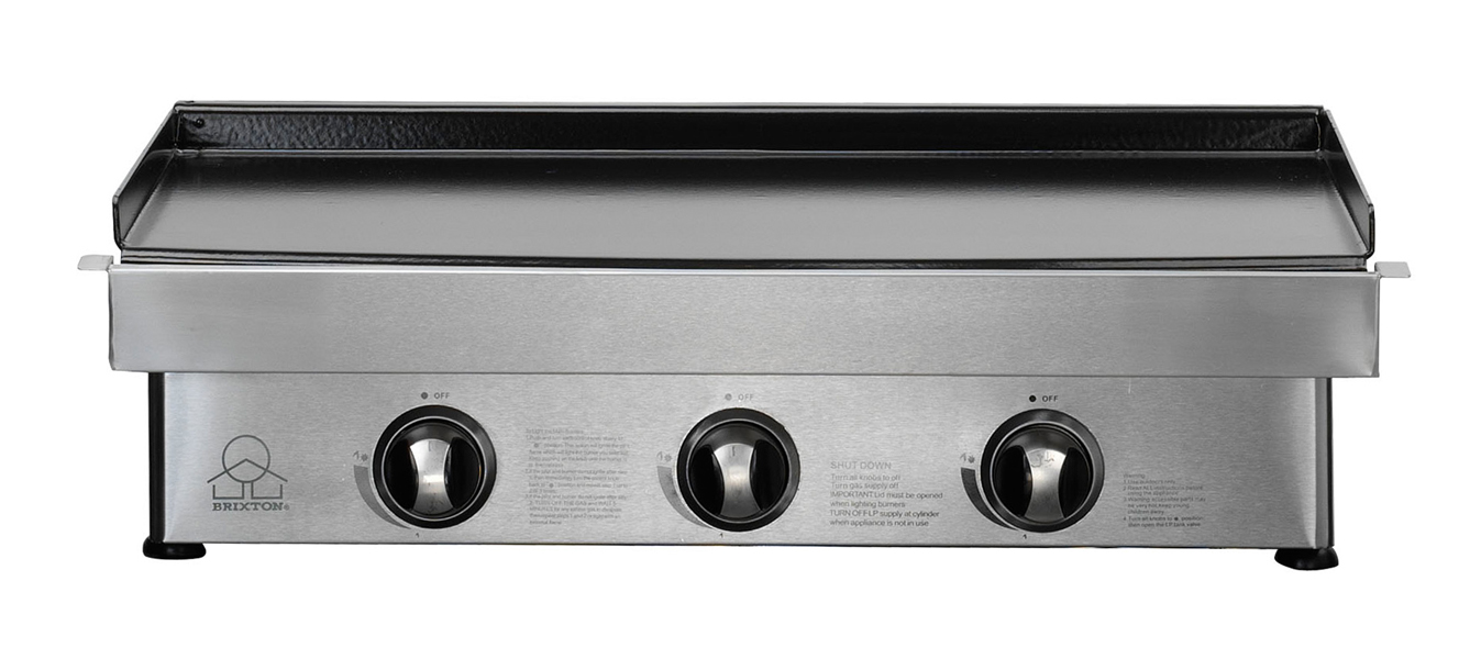 Gas Baking Plate 3 Burners The Barbecue Store Spain