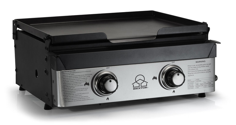 Gas baking plate 2 burners the barbecue store spain - Plancha para cocina de gas ...