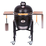 Kamado Monolith Classic Proserie 1.0 in Black with cart