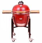 Kamado Monolith Classic Proserie 1.0 in Red with cart