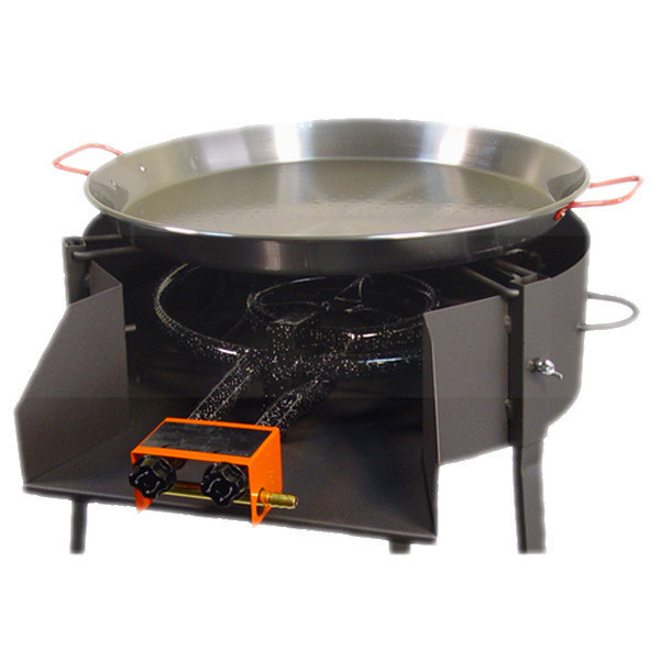 Round Barbecue 60 Cm With Paella Pan Stand The Bbq
