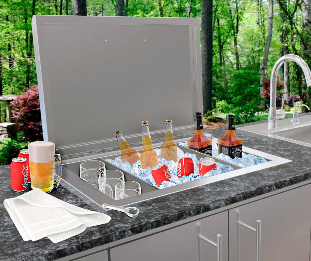 Drop In Ice Chest For Outdoor Kitchen Amp Bbq Islands In Spain