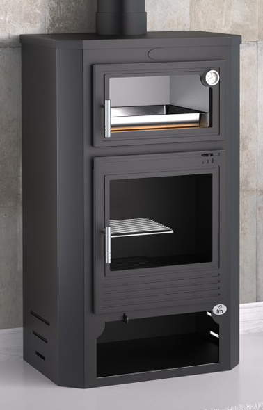 Estufa de le a con horno modelo m 104 la mejor tienda de for Estufa pellets con horno