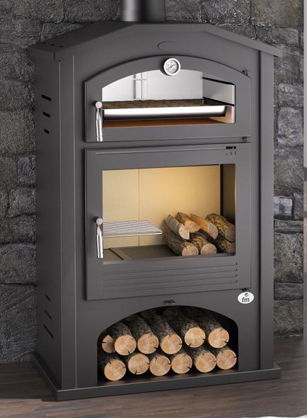 Estufa de le a con horno modelo m 106 la mejor tienda de - Estufa lena horno ...