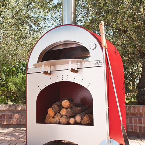 Horno de le a pizza brace rojo the barbecue store espa a - Cocinar en horno de lena ...