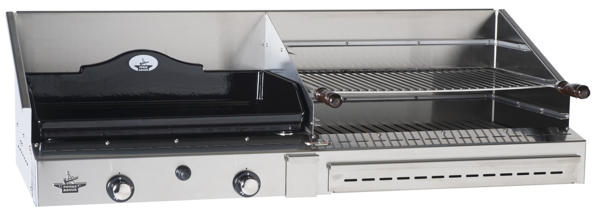 duo 600 inox gas plancha and barbecue the barbecue. Black Bedroom Furniture Sets. Home Design Ideas