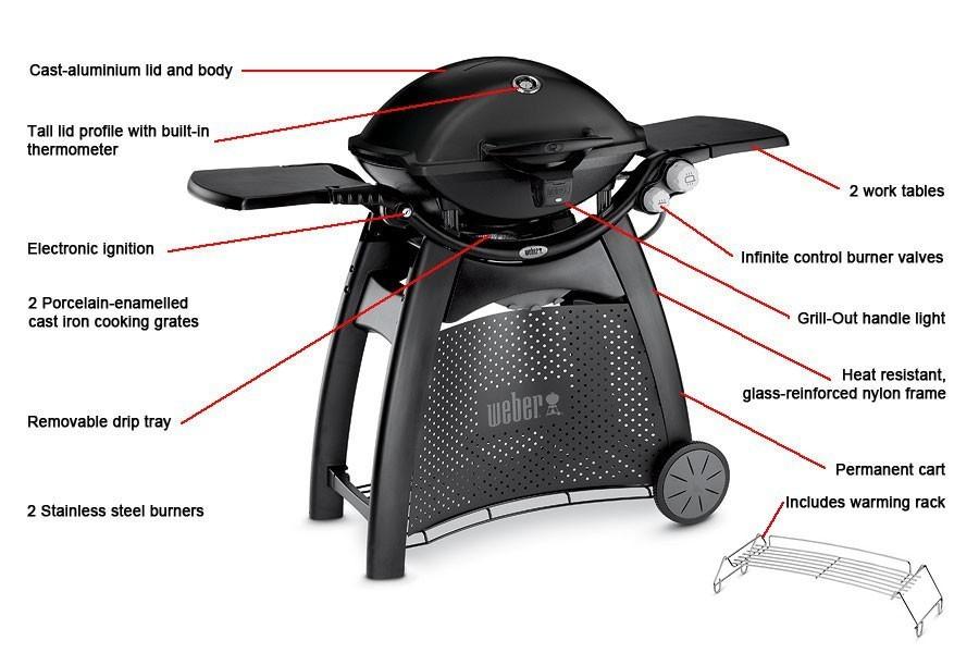 weber q 3200 black barbecue the barbecue store spain. Black Bedroom Furniture Sets. Home Design Ideas