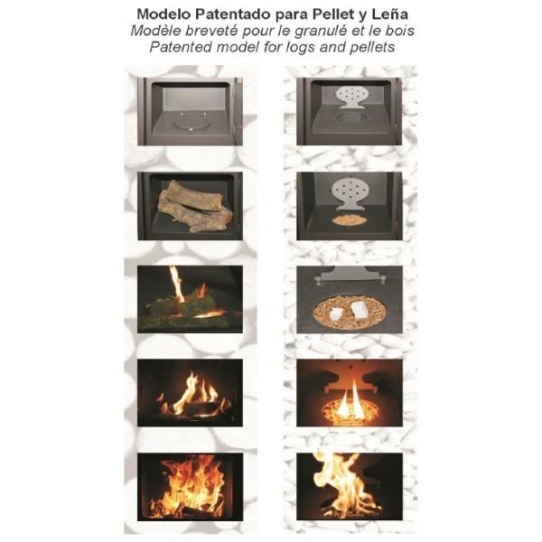 Estufa Policombustible Pellet Y Le A Mod Artico Calefacci N