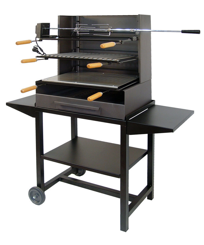 barbecue full metal with rotisserie kit the bbq store spain. Black Bedroom Furniture Sets. Home Design Ideas