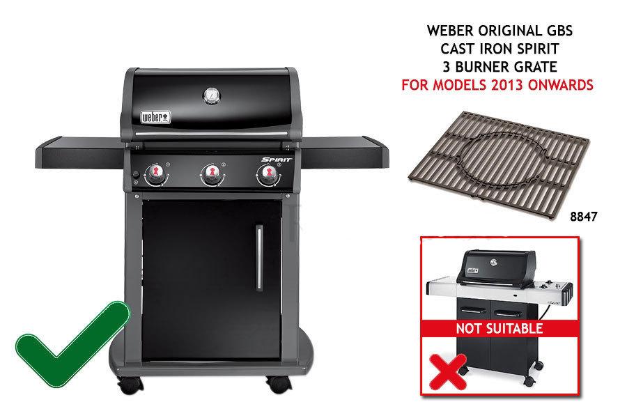 weber original gbs cast iron spirit 3 burner grate grills spain. Black Bedroom Furniture Sets. Home Design Ideas
