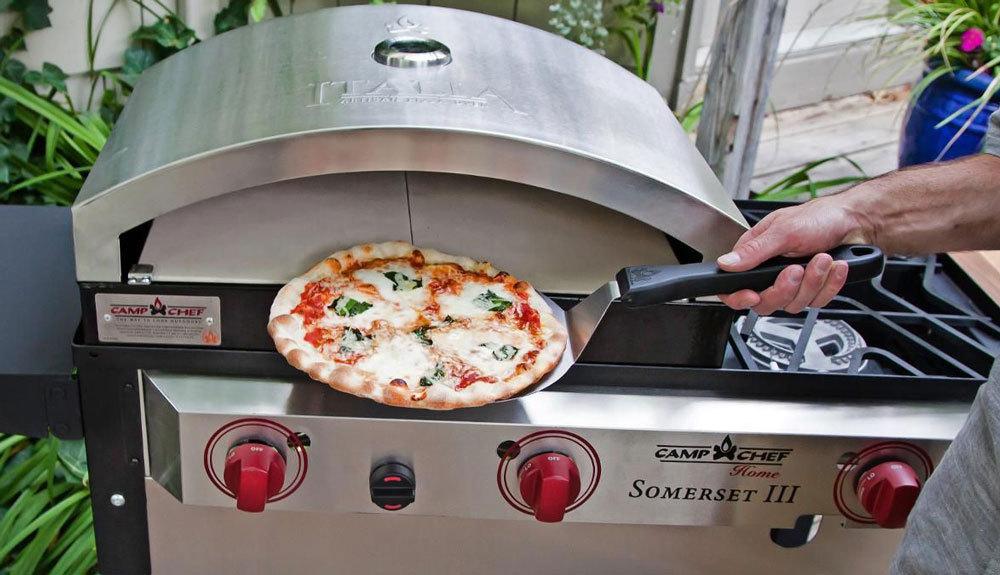 Pala para pizza camp chef el mayor surtido en barbacoas for Pala horno pizza