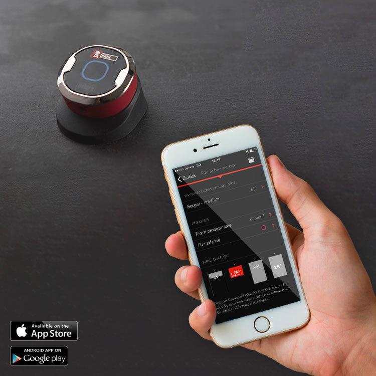 Termometro Bluetooth Igrill Mini Weber Mejor Tienda Barbacoas Sensore di temperatura ad alta precisione. termometro bluetooth igrill mini weber