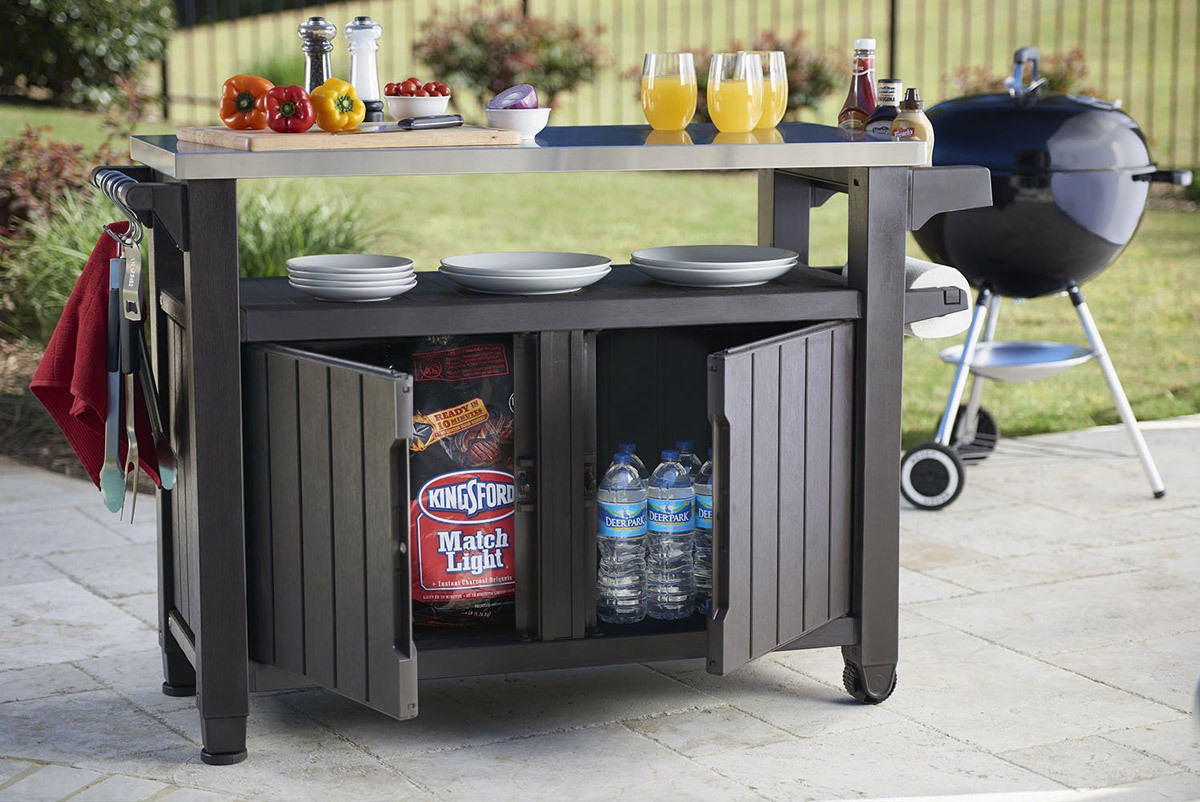 Bbq Storage Table Prep Station Metal Top The Bbq Store Spain