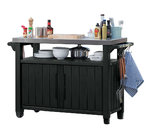 BBQ Storage Table - Prep Station - Serving Cart with Metal top