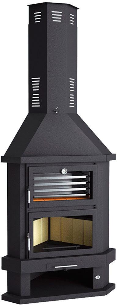 Chimenea de le a rinconera con horno modelo c 200 rh tienda - Chimenea horno de lena ...