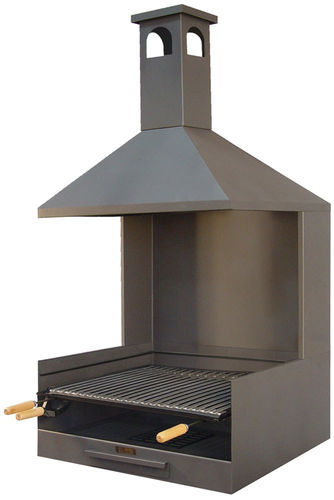 Barbacoa metalica con chimenea elegant barbacoa metlica - Barbacoa metalica exterior ...
