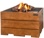 Square Gas Firepit Teak Table